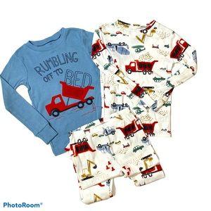 3pc construction truck Pj Set boys pajamas Dirt 3T